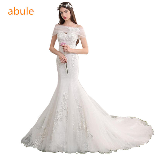 Abule Hochzeit Kleid sommer Benutzerdefinierte Größe Spitze ...