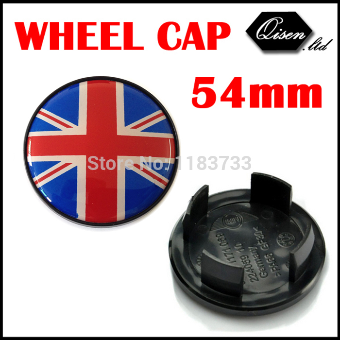 4 X 54MM COLOR UK FLAG MINI LOGO COOPER WORKS WHEEL Hub Center Cap for MINI cooper Countryman Paceman Clubman Coupe #SO2107