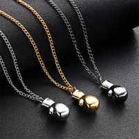 2019 hommes garçons Mini gant de boxe collier Fitness bijoux de boxe unisexe Cool pendentif mode bijoux collares grandes de moda