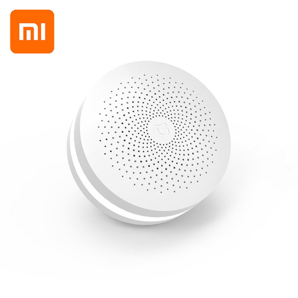 Update Version Original Xiaomi Mijia Smart Home Multifunctional Gateway 2 Alarm System Intelligent Online Radio Night Light Bell-in Smart Remote Control from Consumer Electronics