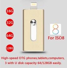 2016 Metal Pen Drive 16gb 32gb 64gb Otg Usb Flash Drive For IPhone 5/5s/5c/6s/6 Plus/Ipad Pendrive 8GB Memory Card 512GB 1TB 2TB