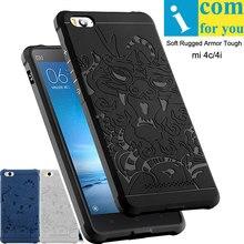 3D дракон cover case Для Xiaomi mi 4c Mi4C Мягкой Силиконовой резины capa para mi 4i