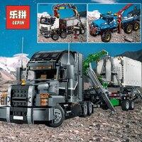 LEPIN Сити RC грузовики 20005 техника большой мак грузовик 20076 модель строительные блоки Тяжелая строительная техника игрушка LEPIN 42078 20056