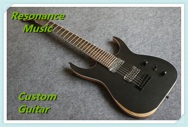 Cheap China OEM Factory Ash Wood Satin Black 7 Strings Guitar Blackmachine B7 Special Hot Selling