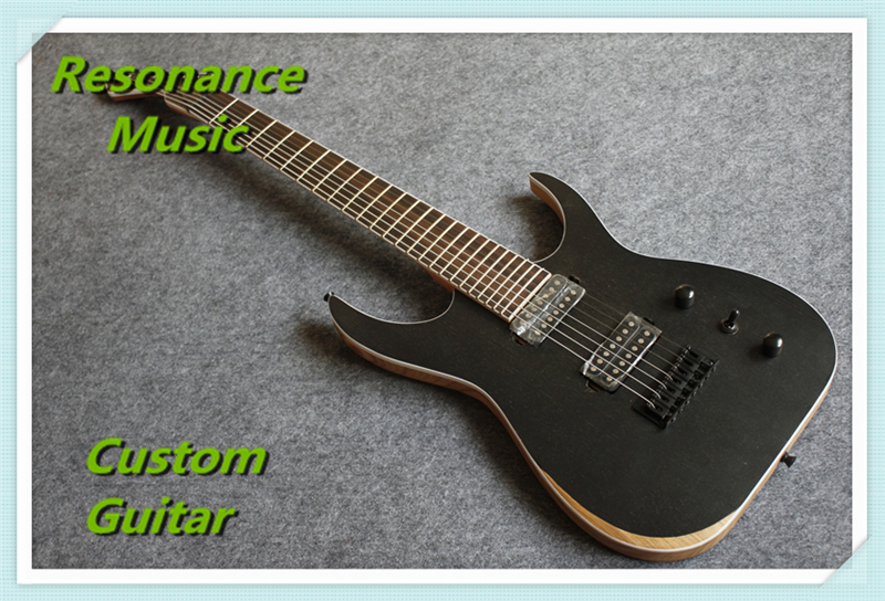 China OEM Factory Ash Wood Satin Black 7 Strings Guitar Blackmachine B7 Special Hot Selling  цена и фото