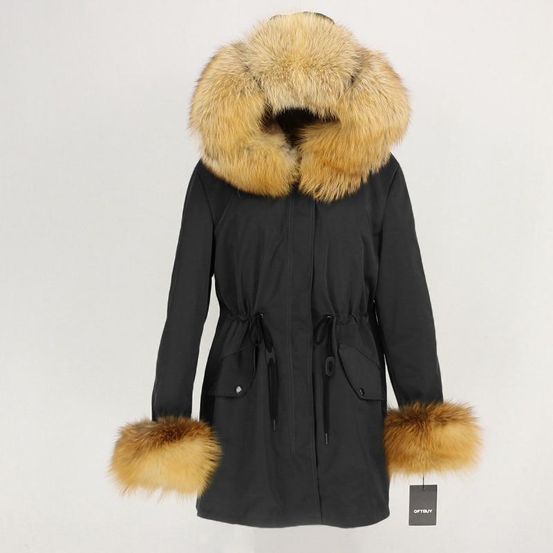 OFTBUY Waterproof Long Parka Winter Jacket Women Real Fur Coat Natural Fox Fur Collar Hood Thick Warm Streetwear Detachable New 29