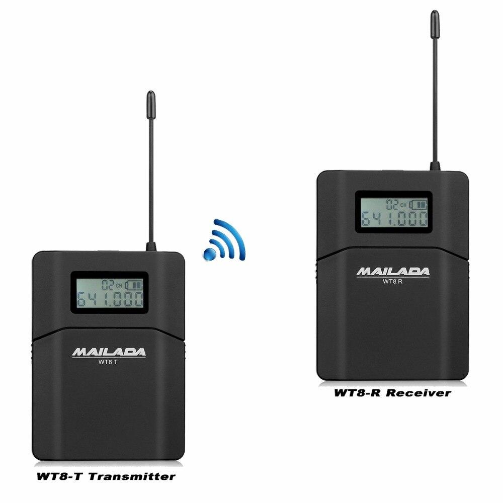 MAILADA WT8 UHF 638-648 mhz Sans Fil Casque Microphone Audio Tour Guide Système Simultanée/Réunion/Église/ sans fil Enseignement