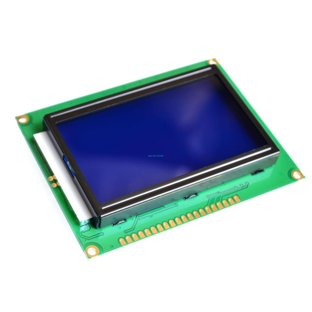 5PCS/LOT LCD Board Yellow Green Screen 12864 128X64 5V blue screen display ST7920 LCD module for arduino 100% new original