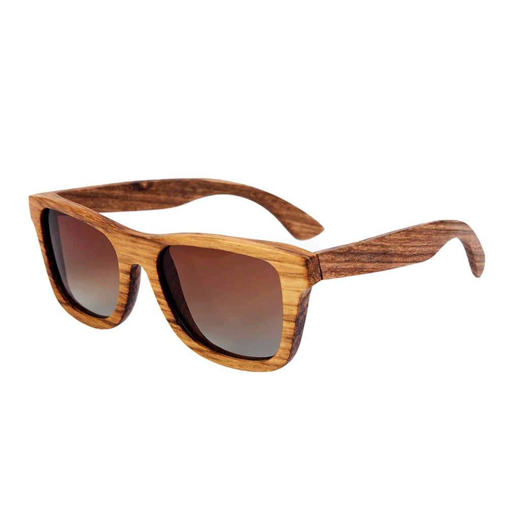 BerWer 100% Real Zebra Wood Wood Sunglasses New Polarized Handmade - Հագուստի պարագաներ - Լուսանկար 1