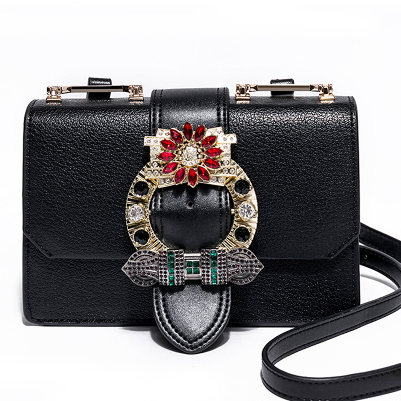 Luxury Brand Genuine Leather Women Bag Famous Designer Handbags High-grade Diamond Design Shoulder Bags Women Messenger Bags Sac new style diamond lattice chain small bag top grade sheepskin shoulder bags mini women bag genuine leather luxury brand bag