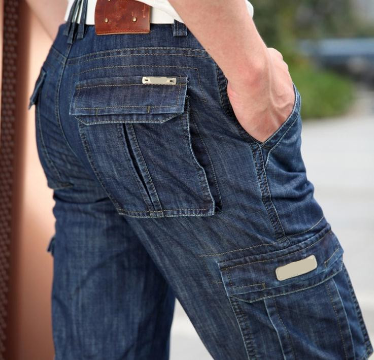 mens denim cargo pants