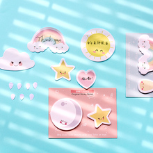 Get more info on the 4pcs Sunny days color sticky note Cartoon Cat Dog Flower Rainbow Star memos Diary planner sticker Office School supplies F466