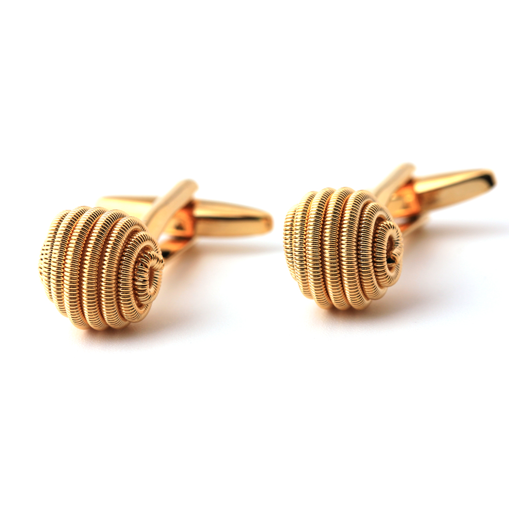 Gold plating twist shape Cufflinks French shirt men CufflinksGold plating twist shape Cufflinks French shirt men Cufflinks