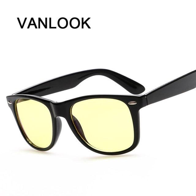 Espetáculo Quadro Transparente Óculos Mulheres Homens Óculos Para O  Trabalho Do Computador TV Jogo Amarelo Lentes d4afe148e9