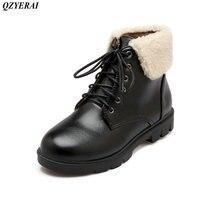 QZYERAI Nowy nabytek zima niski obcas buty żeński super zachowania ciepła klasyczny styl vintage sexy kobiet buty kobiet buty