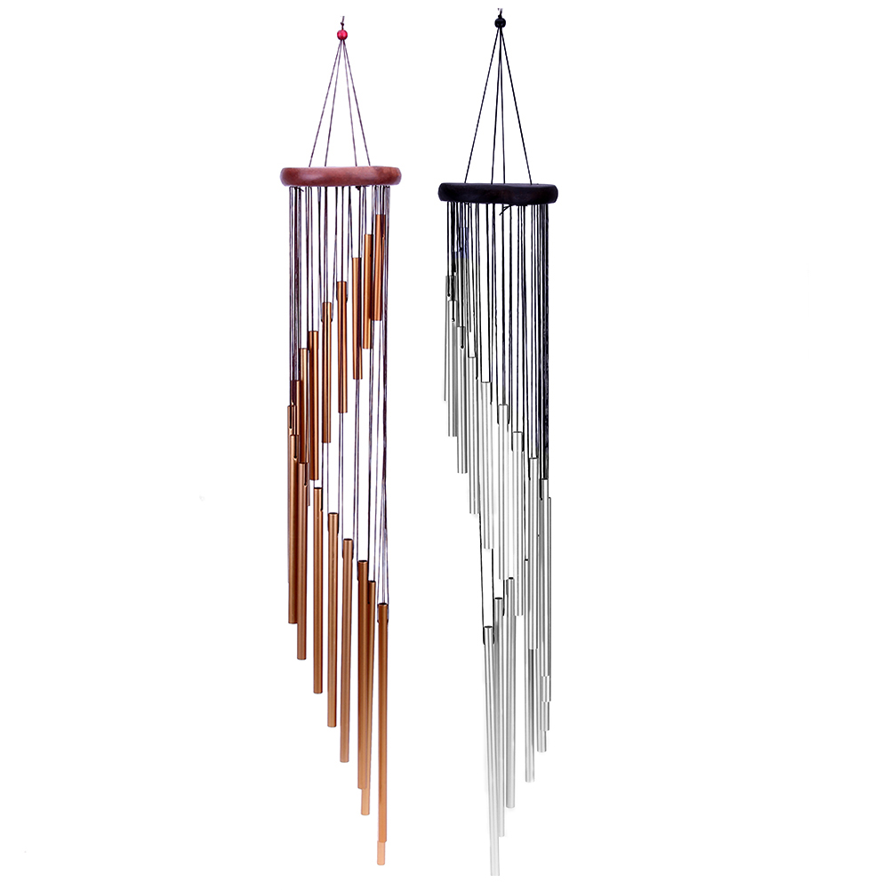 18 Tubes Wind Chime Yard Garden Outdoor Living Wind Chimes Aluminum Alloy Windchimes Home Door Hanging Bells Decoration Gift