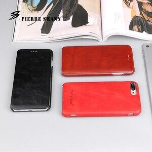Image 3 - Fierre Shann Super luxe étuis en cuir véritable pour iPhone 6 6S 7 7plus 8 8plus 11 Pro X XR XS Max S étui de téléphone à rabat coque de couverture