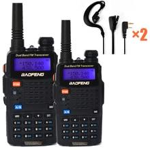 2pc Baofeng 5W two way Ham Radio Dual Band VHF UHF walkie talkie scanner 128CH 1800mAh FM Amateur Transceiver comunicador UV 5RC