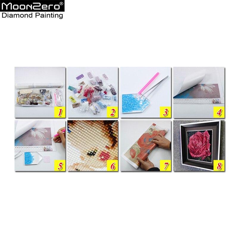 Νέο Diy Diamond Κεντήματα Μωσαϊκό Λευκό - Τέχνες, βιοτεχνίες και ράψιμο - Φωτογραφία 5