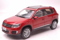 1:18 Diecast Model for Volkswagen VW Tiguan 2013 Red SUV Alloy Toy Car Miniature Collection Gifts