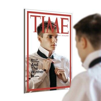 Time Magazine Cover Spiegel Man van het Jaar Opknoping Spiegel voor in jouw Mancave Thuis Bar Muur Decor