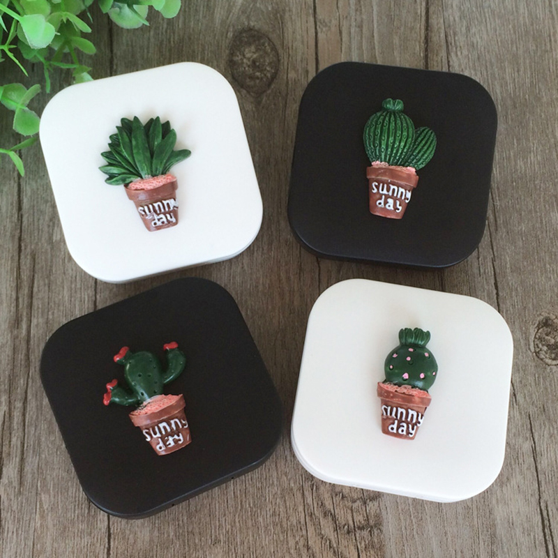 Dedicated Cute Fashion Random Cactus Pattern Travel Glasses Contact Lenses Box Lens Case Contact For Eyes Care Kit Holder Container Eyewear Accessories Back To Search Resultsapparel Accessories