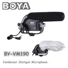 BOYA BY-VM190 micrófono de cañón con Parabrisas Para las cámaras de vídeo DSLR