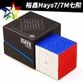 Yuxin 7x7x7 hays magnético magic speed cube stickerless imanes profesionales puzle cubo mágico juguetes educativos para niños