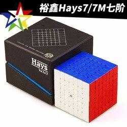 Yuxin 7x7x7 hays magnetyczna magiczna kostka prędkości stickerless profesjonalne magnesy puzzle edukacyjne zabawki dla dzieci w Magiczne kostki od Zabawki i hobby na