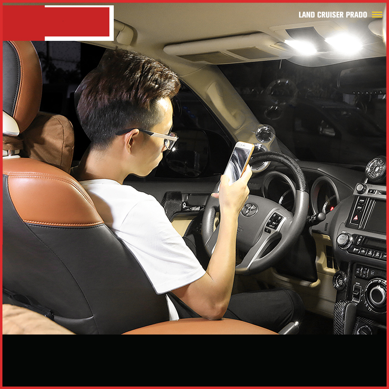 lsrtw2017 car roof reading led light trunk led light for toyota land cruiser prado 2010 2011 2012 2013 2014 2015 2016 2017 ...
