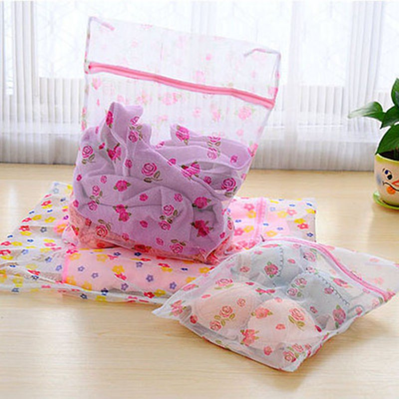 New Zippered Laundry Bag Clothes Washing Lingerie Protecting Machine Laundry Saver Bra Aid Lingerie Mesh Net Wash Bag