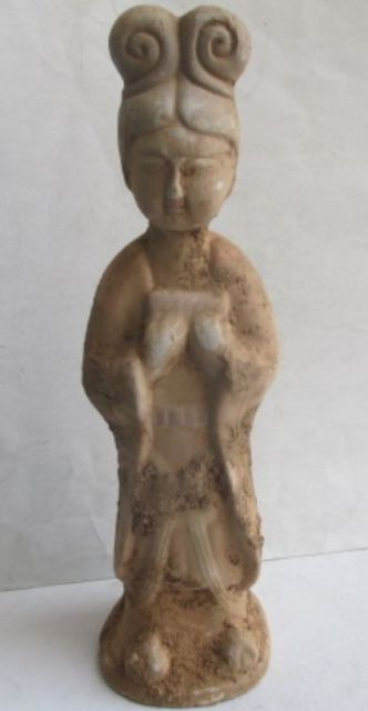 33 см */Изысканный Древний Китай раскопали керамическая женщина СТАТУЯ