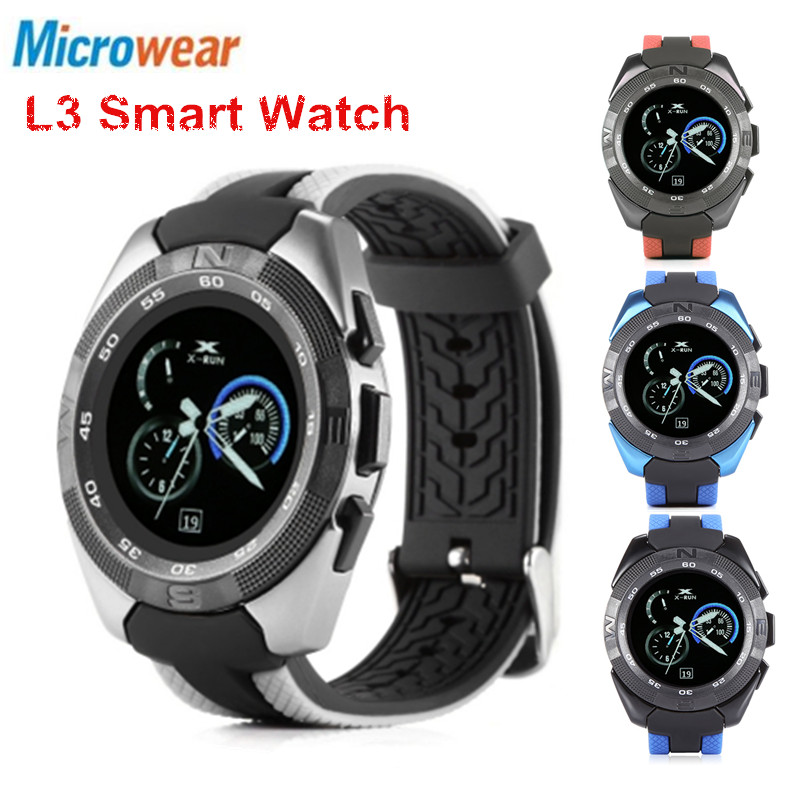 D'origine Microwear L3 IPS Montre Smart Watch Fitness TrackerHeart Taux Sommeil Moniteur Bluetooth Anti-Perte Télécommande Smartwatch