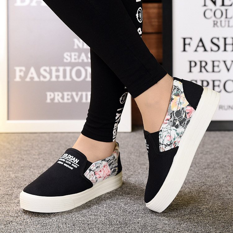 HEFLASHOR Spring Women Slip On Sneakers Shallow Loafers Vulcanized Shoes Breathable Summer Floral Female Casual Flats LadiesHEFLASHOR Spring Women Slip On Sneakers Shallow Loafers Vulcanized Shoes Breathable Summer Floral Female Casual Flats Ladies