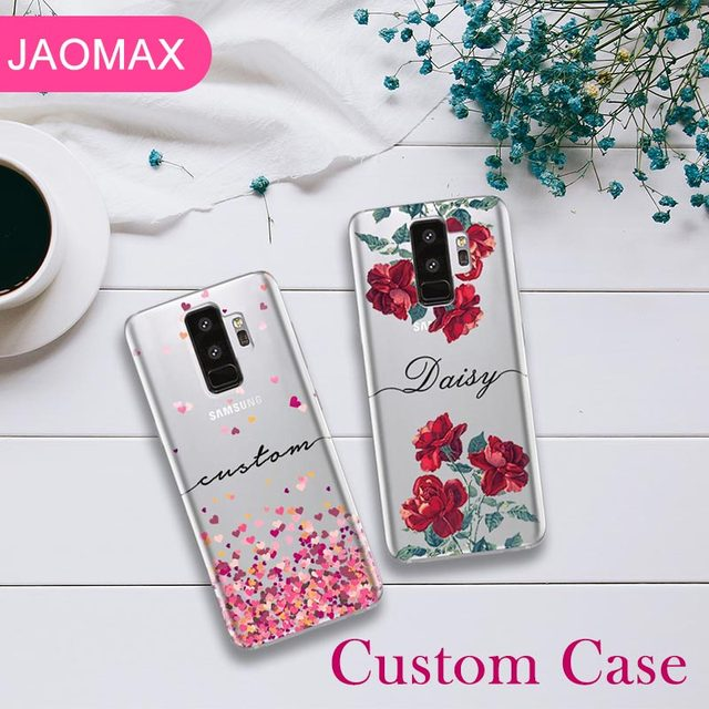 newest 2ca2f adfc5 Aliexpress.com : Buy Jaomax Personalized Name Floral Design Custom Phone  Cases For Samsung Galaxy S8 S9 S7 Edge Customized Silicone Case Cover from  ...
