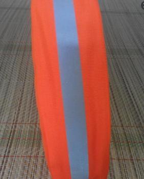5cm fluorescent orange reflective ribbon high visibility reflective warning tape reflective safety strip warning ribbon