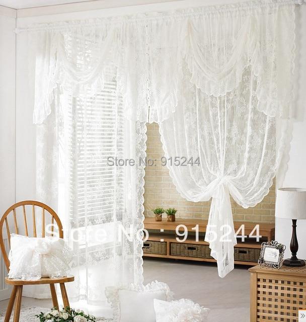 Acheter blanc dentelle rideau produits for Rideaux pour grandes fenetres