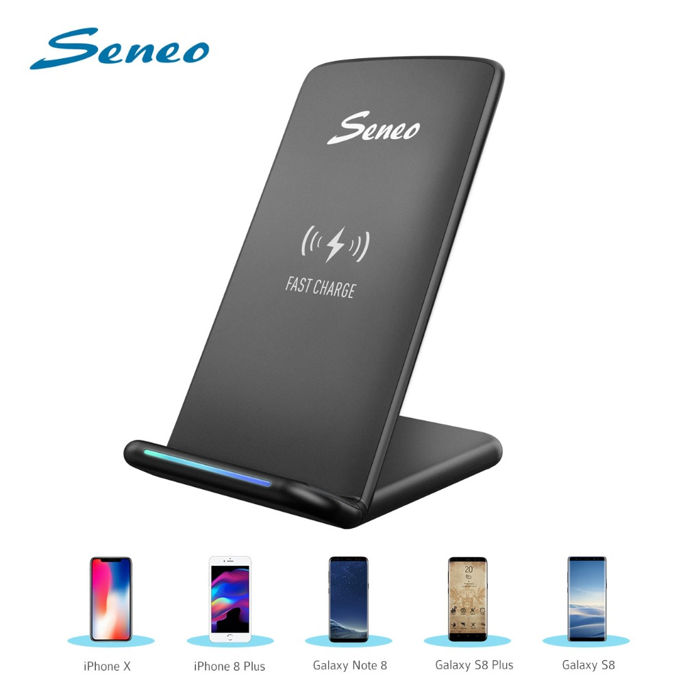 Seneo Cellphone Charging Stand Qi Wireless Charger 5W/10W Fast Quick Charger For iPhone XS MAX/XS/X/8 Huawei Mate 20 Pro SamsungSeneo Cellphone Charging Stand Qi Wireless Charger 5W/10W Fast Quick Charger For iPhone XS MAX/XS/X/8 Huawei Mate 20 Pro Samsung
