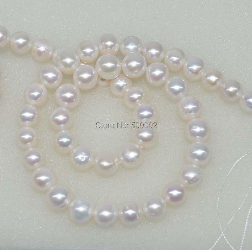 5-6 Mm Pâle Bleu Paon près de ronde pomme de terre d/'eau douce Perles Fabrication de Bijoux un