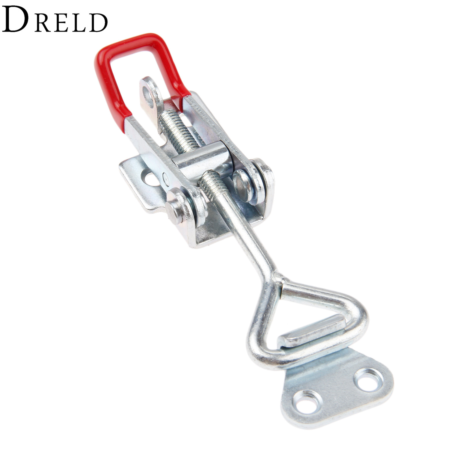 DRELD 1pcs GH-4002 Parighasana Toggle Clamp Clip 200KG/440Lbs Holding Capacity Quick Metal Latch Hand Tool Fixture Clamp gh 12130 227kg capacity hand tool toggle clamp metal flanged base straight handle toggle clamping latch