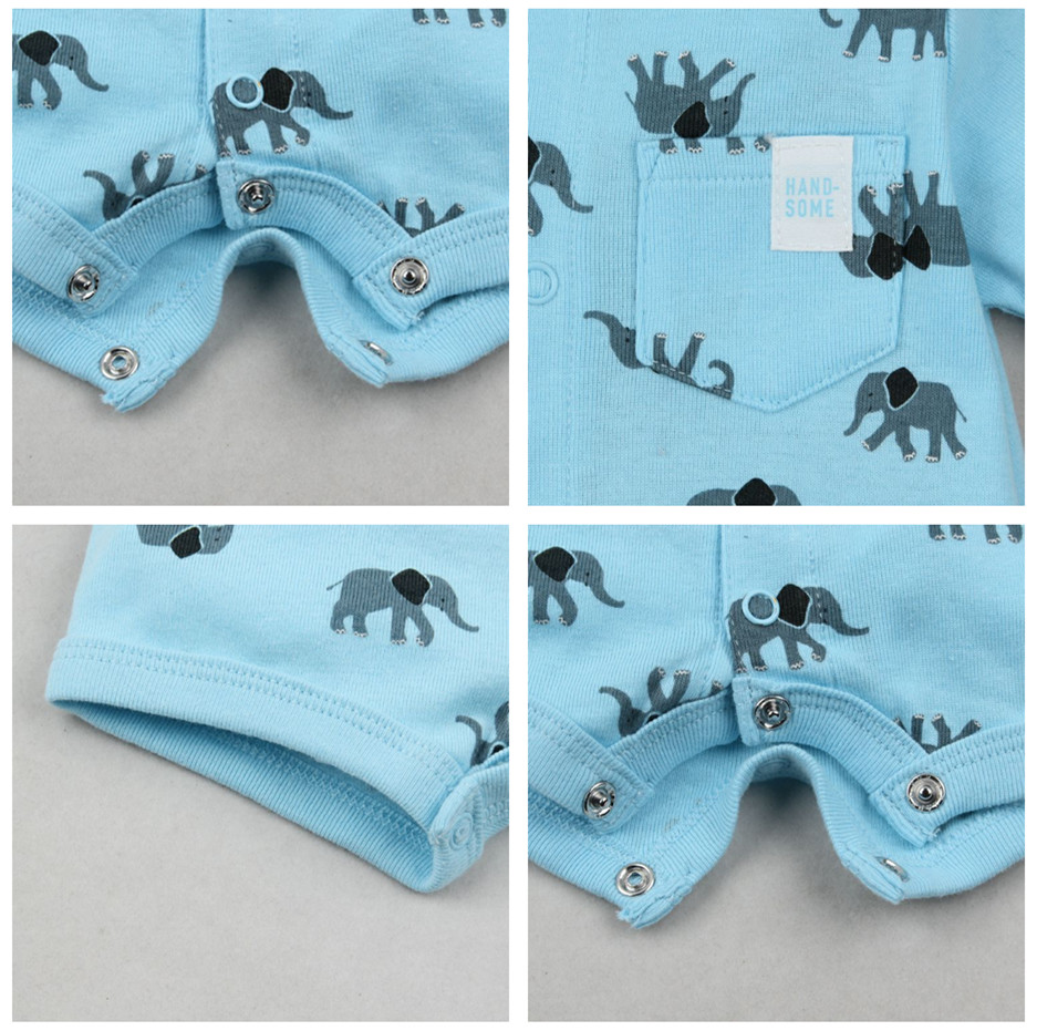 HTB1q752kOCYBuNkSnaVq6AMsVXad 2019 official store Summer boys baby clothing Short Sleeved Jumpsuit Newborn Romper Baby Boy Clothes infant roupas  Baby Rompers