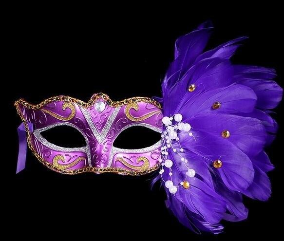 classique acheter réel remise chaude € 1365.55 12% de réduction|Couleur dessin plume perle gemme masque 2016  dame Halloween MARDI GRAS carnaval pâques fête de noël costume masque ...