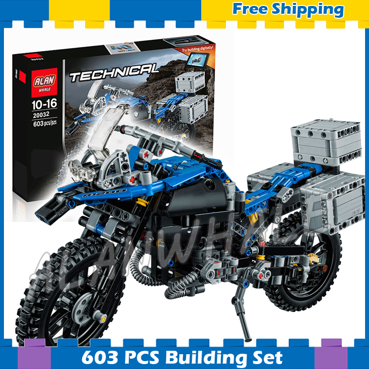 603pcs 2in1 Technic R 1200 GS Adventure 20032 DIY Motorcy Model Building Kit Blocks Gifts Children Sets Compatible With <font><b>Lego</b></font> image