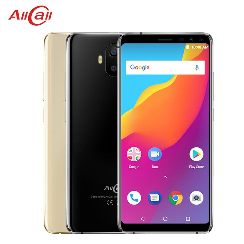 Allcall S1 3g WCDMA 5000 mah Batterie Quatre Cames Mobile Téléphone Android 8.1 MTK6580A Quad-core 5.5- pouces 16 gb 2 gb 13MP 18:9 Smartphone