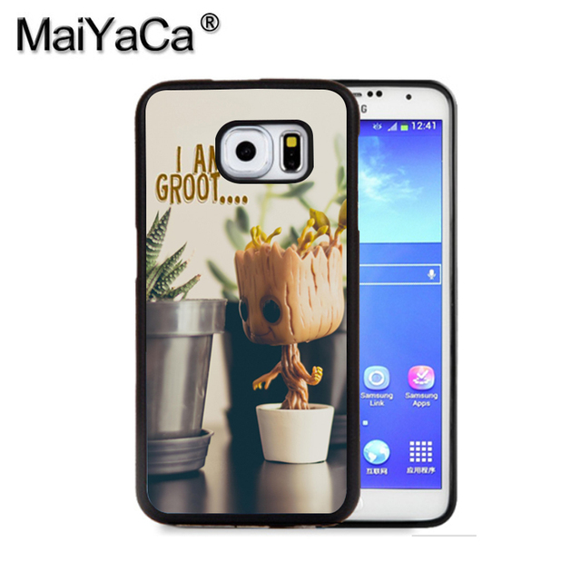 finest selection 1472d e5d1a US $7.5  MaiYaCa I Am Groot Guardians Of The Tumblr Quirky Phone Case For  Samsung S9 S8 Plus S7 S6 Edge Plus Note 8 7 5 S5 S4 Cases-in Half-wrapped  ...