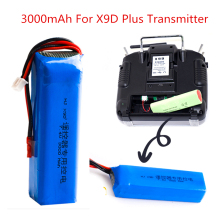 2S 7.4V 3000mAh Upgrade Rechargeable Lipo Battery Lipo Battery for Frsky Taranis X9D Plus Transmitter Toy Accessories