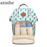 Cactus Printing Mummy Backpack Hanging Trolley Diaper Baby Care Backpacks Bag Maternity Mother Nappy Bagpack