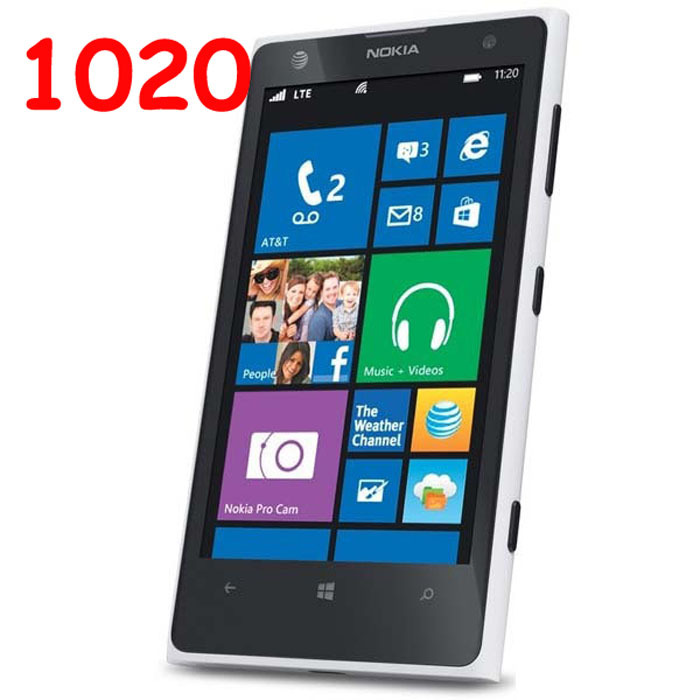 GPS Dual Core Unlocked Windows Phone NOKIA Lumia 1020 Mobile Phone ...