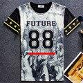 2016 mujeres del verano de los hombres de manga corta camiseta de los hombres de hip hop de moda t-shirt con la impresión 3d yeezus camiseta homme