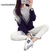 New Korea female loose sweater sweaters women's sweater knitted wool sweater for spring fall and winter